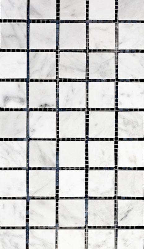 "1"" Square Bianco Carrara"