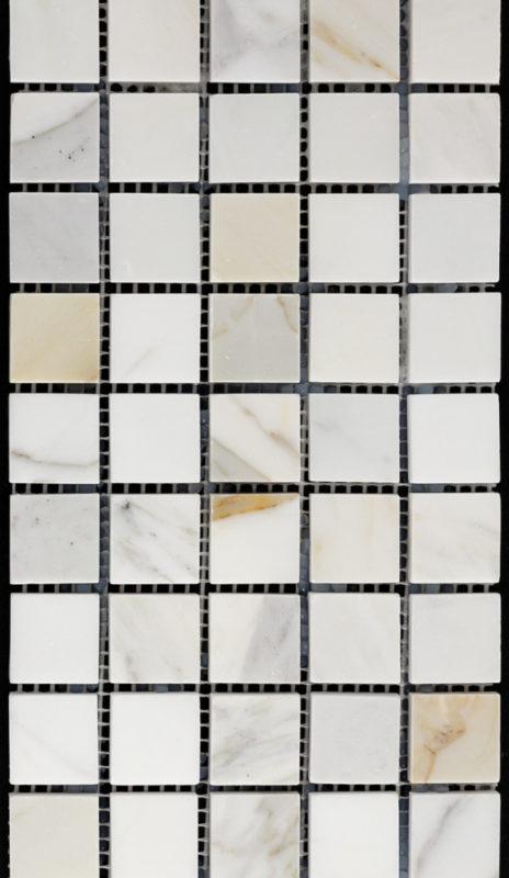 """1"""" Square Calcutta Marble"""