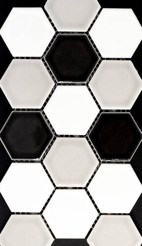 """2"""" Hexagon Artisan Tricolor"""