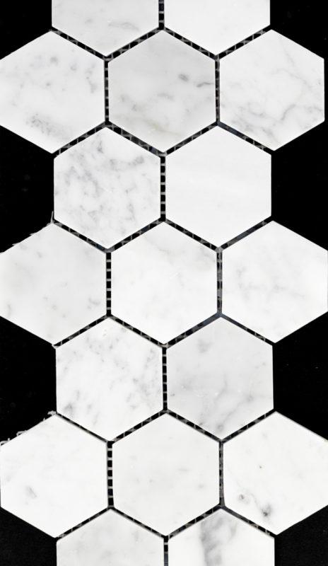 "2"" Hexagon Bianco Carrara"