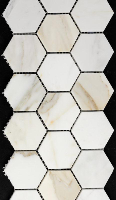 "2"" Hexagon Calcutta Marble"
