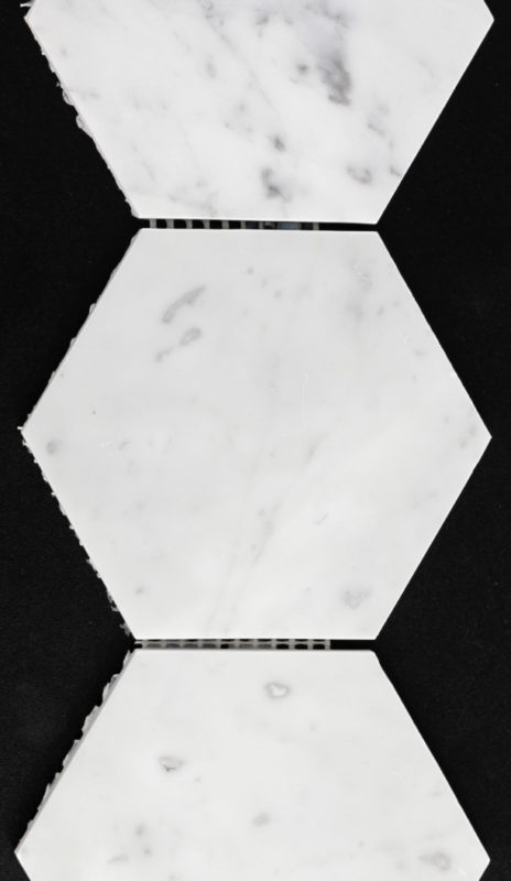 "4"" Hexagon Bianco Carrara"