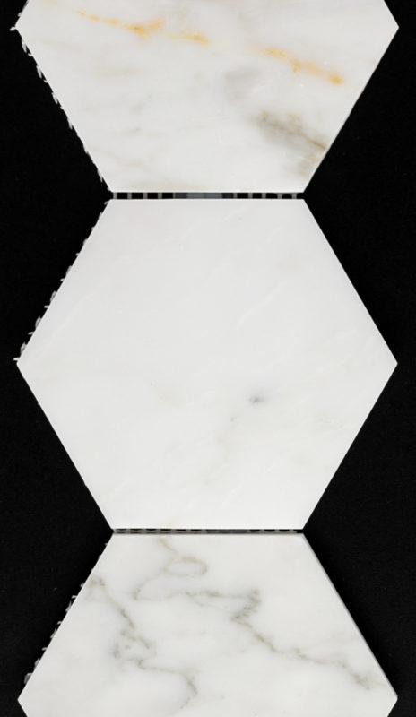 "4"" Hexagon Calcutta Marble"
