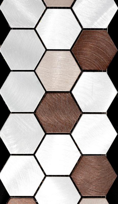 Rhino Tough Brand Metal Multi Hexagon Mosaic
