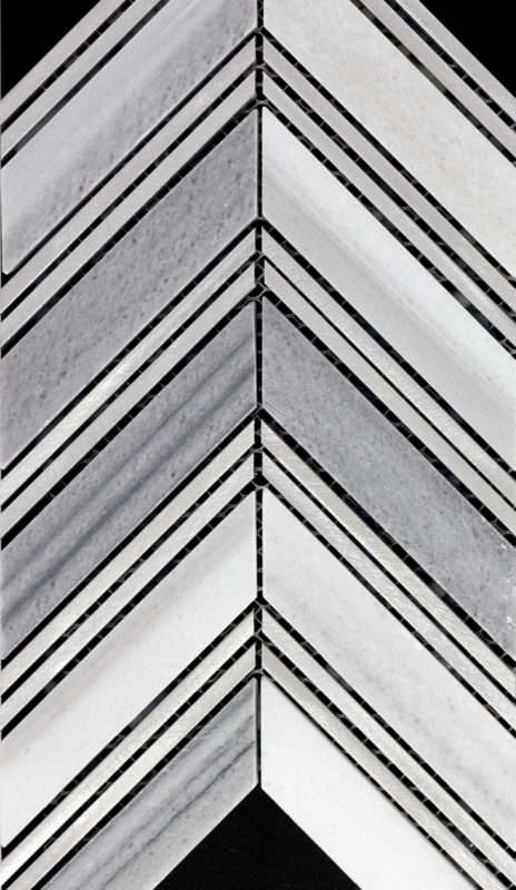 Rhino Tough Brand Carrara Titanium Chevron