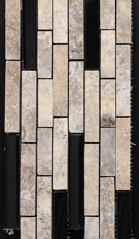 Marbella Stone Pewter w-Black Glass